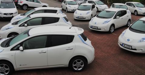 Reportage anlässlich der Auslieferung von 60 Nissan Leaf